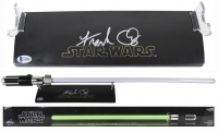 "Frank Oz Signed ""Star Wars"" Lightsaber Display with Yoda Force FX Lightsaber (Beckett LOA) at PristineAuction.com"