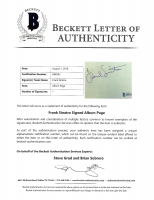 Frank Sinatra Signed 4.25x5.5 Cut (Beckett LOA) at PristineAuction.com