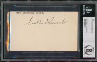 Franklin D. Roosevelt Signed 3x5 Cut (BGS Encapsulated) at PristineAuction.com