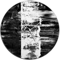 Black Street 22x22 Circle Clock by Mendo Vasilevski at PristineAuction.com