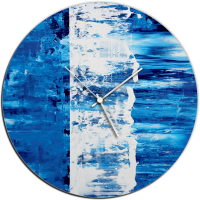 Blue Street 22x22 Circle Clock by Mendo Vasilevski at PristineAuction.com