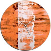 Orange Street 22x22 Circle Clock by Mendo Vasilevski at PristineAuction.com