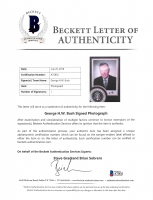 George H. W. Bush Signed 12x16 Custom Matted Photo Display (Beckett LOA) at PristineAuction.com