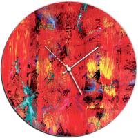 City Color 22x22 Circle Clock by Mendo Vasilevski at PristineAuction.com