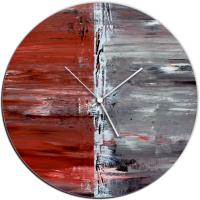 City Alley 22x22 Circle Clock by Mendo Vasilevski at PristineAuction.com
