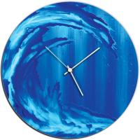 Ocean Wave 22x22 Circle Clock by Mendo Vasilevski at PristineAuction.com