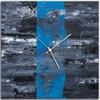 Blue Line 22x22 Square Clock by Mendo Vasilevski at PristineAuction.com