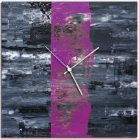 Purple Line 22x22 Square Clock by Mendo Vasilevski at PristineAuction.com