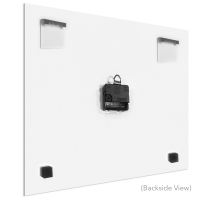Black Street 22x22 Square Clock by Mendo Vasilevski at PristineAuction.com