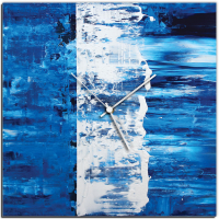 Blue Street 22x22 Square Clock by Mendo Vasilevski at PristineAuction.com