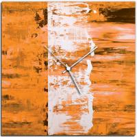 Orange Street 22x22 Square Clock by Mendo Vasilevski at PristineAuction.com