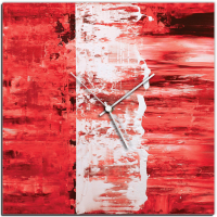Red Street 22x22 Square Clock by Mendo Vasilevski at PristineAuction.com