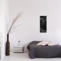 Black Wave v1 24x9 Clock by Mendo Vasilevski at PristineAuction.com