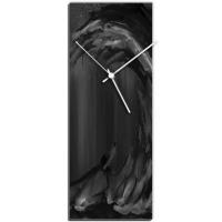 Black Wave v2 24x9 Clock by Mendo Vasilevski at PristineAuction.com