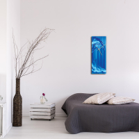 Blue Wave v1 24x9 Clock by Mendo Vasilevski at PristineAuction.com