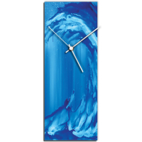 Blue Wave v2 24x9 Clock by Mendo Vasilevski at PristineAuction.com