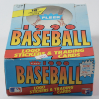 1990 Fleer Baseball Wax Box with (36) Wax Packs at PristineAuction.com