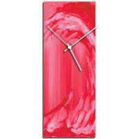Red Wave v2 24x9 Clock by Mendo Vasilevski at PristineAuction.com