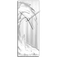 White Wave v1 24x9 Clock by Mendo Vasilevski at PristineAuction.com