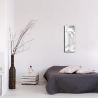 White Wave v2 24x9 Clock by Mendo Vasilevski at PristineAuction.com