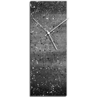 Black Flecked 24x9 Clock by Mendo Vasilevski at PristineAuction.com
