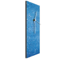 Blue Flecked 24x9 Clock by Mendo Vasilevski at PristineAuction.com
