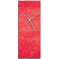 Red Flecked 24x9 Clock by Mendo Vasilevski at PristineAuction.com