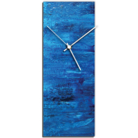 City Blue v2 24x9 Clock by Mendo Vasilevski at PristineAuction.com