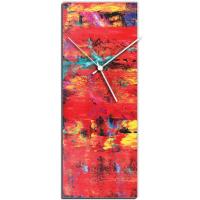 City Colors 24x9 Clock by Mendo Vasilevski at PristineAuction.com