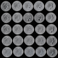 Lot of (25) 2015 Elizabeth II 2 Pound Britannia 1 Ounce .999 Fine Silver Bullion Rounds at PristineAuction.com