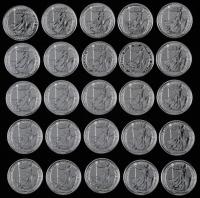 Lot of (25) 2015 Elizabeth II 2 Pound Britannia 1 Ounce .999 Fine Silver Bullion Rounds at PristineAuction.com