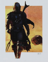 "The Mandalorian - ""Star Wars"" - Jeff Lang 11x14 Signed Limited Edition Art Print #/5 (PA COA) at PristineAuction.com"