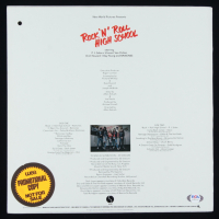 """""""Rock N Roll High School"""" Soundtrack Vinyl Record Album Signed by (4) with Dee Dee Ramone, Johnny Ramone, Marky Ramone, & Joey Ramone (PSA LOA) at PristineAuction.com"""