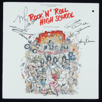 """Rock N Roll High School"" Soundtrack Vinyl Record Album Signed by (4) with Dee Dee Ramone, Johnny Ramone, Marky Ramone, & Joey Ramone (PSA LOA) at PristineAuction.com"
