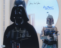 """Star Wars"" 11x14 Photo Signed by (4) with James Earl Jones, Jason Wingreen, Jeremy Bulloch, & David Prowse Inscribed ""Darth Vader"", ""Boba Fett"", & ""Boba in Voice"" (Beckett COA) at PristineAuction.com"
