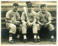 Mel Ott, Carl Hubbell & Jimmy Ripple Signed Giants 8x10 Photo (JSA LOA) at PristineAuction.com