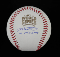 "Kyle Schwarber Signed 2016 World Series Baseball Inscribed ""16 WS Champs"" (Beckett COA) at PristineAuction.com"