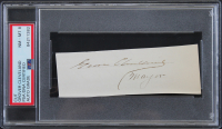 "Grover Cleveland Signed 1.65x4.65 Cut Inscribed ""Mayor"" (PSA Encapsulated) at PristineAuction.com"