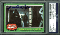James Earl Jones Signed 1977 Star Wars #204 Stalking the corridors of the Death Star (PSA Encapsulated) at PristineAuction.com