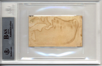 """Jefferson Davis Signed 2.15x3.75 Cut Inscribed """"Respectfully"""" (BGS Encapsulated) at PristineAuction.com"""