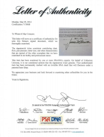 Jim Henson Signed Contract (PSA LOA) at PristineAuction.com