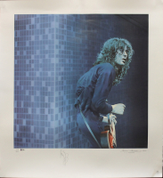 "Jimmy Page Signed AP ""Led Zeppelin"" 30x33 Lithograph (Beckett LOA) (See Description) at PristineAuction.com"