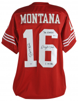 "Joe Montana & Dwight Clark Signed Jersey Inscribed ""The Catch"" & ""1.10.82"" (Beckett COA & PSA COA) at PristineAuction.com"