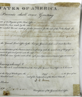 John Quincy Adams Signed 1826 Land Grant Document (Beckett LOA) (See Description) at PristineAuction.com