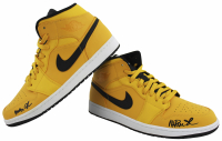 Pair of (2) Magic Johnson Signed Nike Air Jordan Basketball Shoes (Beckett COA) at PristineAuction.com