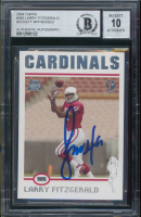 Larry Fitzgerald Signed 2004 Topps Collection #360 RC (BGS Encapsulated) at PristineAuction.com