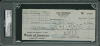 Lou Costello Signed 1945 Personal Bank Check (PSA Encapsulated) at PristineAuction.com