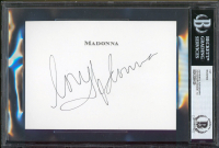 "Madonna Signed 4.5x6 Cut Inscribed ""Love"" (BGS Encapsulated) at PristineAuction.com"