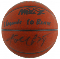 "Magic Johnson & Kobe Bryant Signed NBA Basketball Inscribed ""2 Legends"" & ""10 Rings!"" (Beckett COA & PSA COA) at PristineAuction.com"