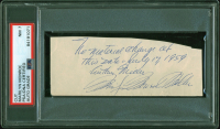 Marilyn Monroe Signed 2x5 Cut With Extensive Inscription (PSA Encapsulated) at PristineAuction.com